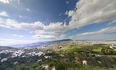 Ttouan Wide Angle (Yassine Abbadi) Tags: road bridge sea sky cloud mountain beach grass plane sunrise buildings spring hill mosque morocco maroc hdr tetuan tetouan martil bouanane