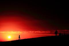 etre dans le rouge (glookoom) Tags: orange nature monochrome silhouette jaune rouge soleil noir couleurs ombre contraste couleur couchdesoleil chamrousse