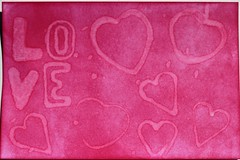 ICAD # 29 LOVE (clayangel_sc) Tags: artcards art doodles indexcardaday icad aceo ooak draw indexcards 4x6 mixedmedia love pink