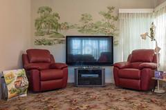 Seddon (Westographer) Tags: wallpaper vintage tv suburbia australia melbourne oldschool loungeroom livingspace westernsuburbs armchairs seddon floralcarpet