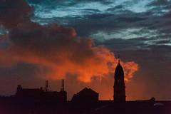 late night shooting (kceuppens) Tags: sunset sky orange cloud silhouette evening zonsondergang nikon outdoor late antwerp nikkor avond lucht antwerpen openlucht oranje wolk 80400 d700 nikond700 nikkor80400afs