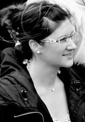 Street Portrait (patrick_milan) Tags: street people blackandwhite bw woman white black girl monochrome lady noir noiretblanc femme bretagne nb britanny dame rue fille blanc personne streetview gens finistre plouguin
