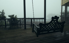 Porch Swing (Patrick R Photography) Tags: wood mist mountain green fog dark swing creepy porch macabre