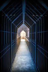 Way Out (Tobias Sieben) Tags: germany dark de grid hall gang duisburg dunkel gitter landschaftsparknord eisen