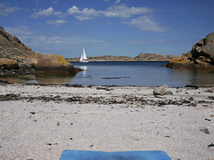 Tranquillity (Pivi ) Tags: westcoastsweden bohusln paddling holiday kayak summer2016 island sea beach sailingboat