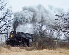 Pulling into town (Scott (Smiley)) Tags: train michigan steam institute locomotive pere marquette 1225 railroading owosso