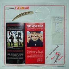 """an apple a day keeps the doctor away - An ENSO (circle) a Day ..."" 1. Nov 14: All Saints` Day, Allerheiligen - Nonseum - Nonsense Museum - Circle: white ink on white napkin, found pheasant feather - weiße Tinte Fasanenfeder Fund vom ""Ehret den Sock Weg"""