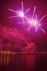Midnight (larry_antwerp) Tags: belgium fireworks newyear antwerp tug schelde vuurwerk sleepboot 2015