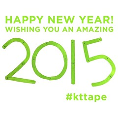 Wishing you a happy New Year... plan on 2015 being amazing! What are YOUR goals for the new year? #kttape (Recover Faster, Play Harder) Tags: green letters tape kt happynewyear kttape