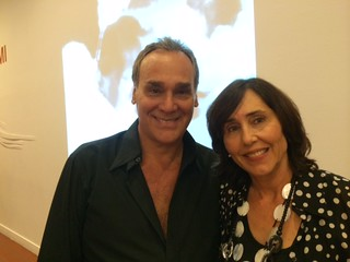 Collector and entrepreneur Geo Darder with artist Meme Ferre  at HistoryMiami Museum