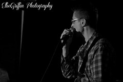 John of The SwingFires (EllieGriffin Photography) Tags: blackandwhite musician music white black male monochrome rock photography grey concert pub nikon guitar live gig n blues swing singer rockabilly and roll vic local performer guitarist bikers the d3200 swingfires