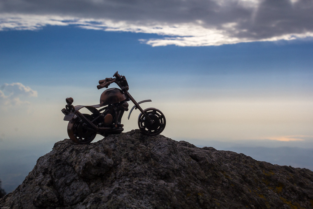 sky bike himachal himalayas dharamsala minature