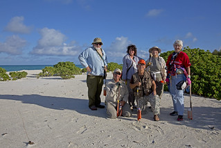 Volunteer albatross counters on Midway Atoll NWR Dec. 2014