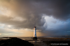 Gold and blue (*Richard Cooper *) Tags: new sea irish lighthouse rock liverpool brighton perch wallasey wirral merseyside