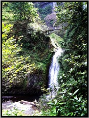 Multnomah Falls Park ~ Oregon (Onasill ~ Bill Badzo) Tags: county travel bridge usa 30 oregon river us waterfall site highway veil or scenic landmark visit columbia tourist falls historic hwy route gorge register bridal multnomah attraction 84 nrhp onasill