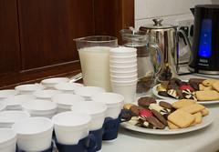 03.12.2014 Day Day 337 Tea Break (margaret_99) Tags: milk tea chocolate kettle cups biscuits