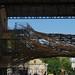 Camouflage de passerelle, Le Magasin Général, ancienne caserne Niel, quai de Queyries, La bastide, Bordeaux, Gironde, Aquitaine, France.