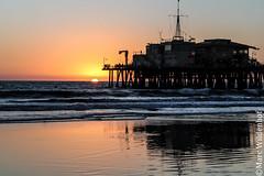 Santa Monica Beach / Los Angeles California (Marc Wildenhof) Tags: california sunset usa beach strand pier losangeles sonnenuntergang santamonica santamonicapier santamonicabeach amerika westcoast kalifornien westkste