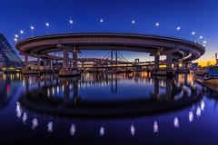 A Crown of Tokyo Bay, Dawn (45tmr) Tags: japan night landscape tokyo cityscape nightscape pentax 東京 夜景 rainbowbridge k3 レインボーブリッジ pentaxk3