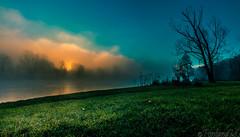 Nebulosa (Il Massimo) Tags: morning sun fog canon river landscape dawn italia alba natura sole nebbia paesaggio martesana adda mattino canon70d