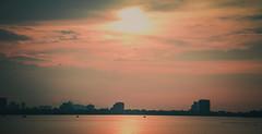 Chiu H Ty (DragonNT and DoubleTL) Tags: sunset sky cloud sun lake west nikon afternoon vietnam hanoi nam ni hong hn h h ty vit k 18105mm d7100 doubletl dragonnt