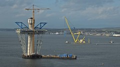 The Queensferry Crossing. (Kingfisher 24) Tags: scotland fife firthofforth floatingcrane hmsprinceofwales queensferrycrossing