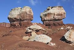 """Twin Rocks"" / Capitol Reef National Park (Ron Wolf) Tags: nature landscape utah nationalpark jurassic capitolreefnationalpark mesozoic moenkopiformation chinleformation erosionalfeature shinarumpmember"