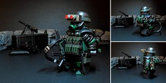 Sci-Fi Soldier (Kristov.) Tags: trooper soldier lego battle scifi minifig custom apocalyptic minifigure