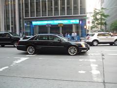 Cadillac DTS (JLaw45) Tags: road street door new york city nyc urban apple wheel america sedan four drive big gm state general metro manhattan united rear north limo cadillac motors midtown american vehicle metropolis states dts avenue northeast luxury livery rwd worldcars