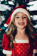 Day 185 of Project 365 (from the lens of G) Tags: santa christmas portrait colour cute girl smile funny gorgeous daughter project365