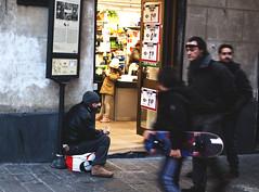 Medicante (Rockyge89) Tags: street people blackandwhite italy man blackwhite nikon italia streetphotography genoa genova urbanarte nikond5000