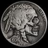 Buffalo Skull #77 (Seth Basista Engraving) Tags: original skulls skeleton skull seth coin buffalo coins best nickel nickels society hobo carvings skullcoin basista ohns
