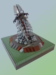 Underground Robotic Worm (Legoloiii) Tags: robot hole lego alien contest worm mole miner dop moc brickpirate legoloiii