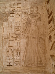 Medinet Habu Mortuary Temple of Ramesses III, First Hypostyle Hall, Chapel 1, unnamed princess (dr.heatherleemccarthy) Tags: sculpture archaeology monument stone architecture writing temple ancient princess stonework text egypt royal chapel relief hieroglyphs thebes ramesses