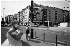 jbuda Kzpont, Budapest, 10/2015 (Attila Glncsr) Tags: camera blackandwhite film set iso800 twins year budapest gear mobil location tagged iso date ilforddelta400 youngman reklam sn villamos 2015 metr piac olympusmju2 oszlop megallo 1510392 budapestreet1511 fehervariut bdpstr