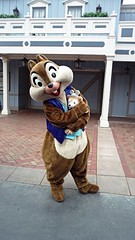 Chip with Duffy (BeautifulToyReviews) Tags: bear street outside outdoors anniversary disneyland character main parks disney diamond celebration chipmunk chip duffy edition meet 60th greet