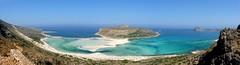 Panorama Ballos in Crete (Greece) (petikova) Tags: travel blue sea sky panorama landscape island sand turquoise greece crete holyday ballos