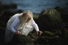 Whatcha doin.... (privizzinis passion photography) Tags: ocean sea people green beach water girl childhood hair children outdoors moss movement child outdoor exploring adventure explore freelensed