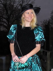 Wonderful smile (Paula Satijn) Tags: black green girl beauty smile hat hair happy shiny pretty dress lace gorgeous joy silk skirt blond elegant satin