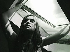 (xxysx) Tags: shadow portrait people bw woman contrast dark experimental aerochrome
