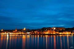 nightly lights of city Flensburg (stein.anthony) Tags: longexposure blue night canon lights licht cityscape nightime nightview hafen reflexion spiegelung nachtaufnahme habour flensburg langzeitbelichtung blauestunde