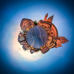 Mainz, Domplatz (pure:passion:photography) Tags: city sunset panorama building architecture zeiss sunrise germany deutschland cityscape sonnenuntergang sundown german bluehour mainz sonnenaufgang 360 nachtaufnahme rheinlandpfalz 1635 blauestunde domplatz statt kugelpanorama stadtlandschaft sonya99 sonyalpha99