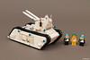 """White Tiger"" | Futuron Tank (Andrea Lattanzio) Tags: tank lego hangar workshop legospace classicspace futuron legotank norton74"