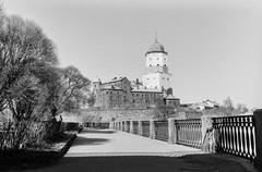 Vyborg (s.luzin) Tags: bw castle film ilford zuiko vyborg olympus35sp