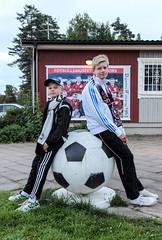 Filip och Oscar 2013-09-01 (Michael Erhardsson) Tags: sport match derby valla fotboll sk stora degerfors 2013 superettan fotbollsmatch