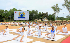 2nd International Day of Yoga  2016, at Frontier HQ BSF, Salbagan, in Agartala, Tripura (legend_news) Tags: 2ndinternationaldayofyoga2016 atfrontierhqbsf salbagan inagartala tripura