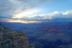 DSC_0003 powell point storm at sunset hdr 850 (guine) Tags: sunset storm clouds rocks grandcanyon canyon hdr luminance grandcanyonnationalpark qtpfsgui
