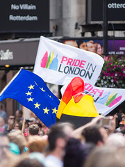 Pride in London Parade (Joe Dunckley) Tags: uk gay england london westminster festival flag trafalgarsquare parade event lgbt gb gaypride sexuality cityofwestminster euflag eureferendum prideinlondon brexit