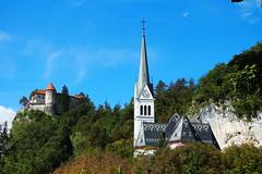 Iglesia de San Marino, Bled, Eslovenia (telurio44) Tags: bled eslovenia castillodebled lagobled lago castillo iglesiadesanmarino