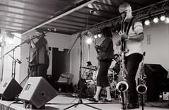 Canada Day band 01 (Eric Hartke) Tags: blackandwhite music film diy band ilfordhp5 canadaday nikkormat filmisnotdead 50f2 loveoffilm